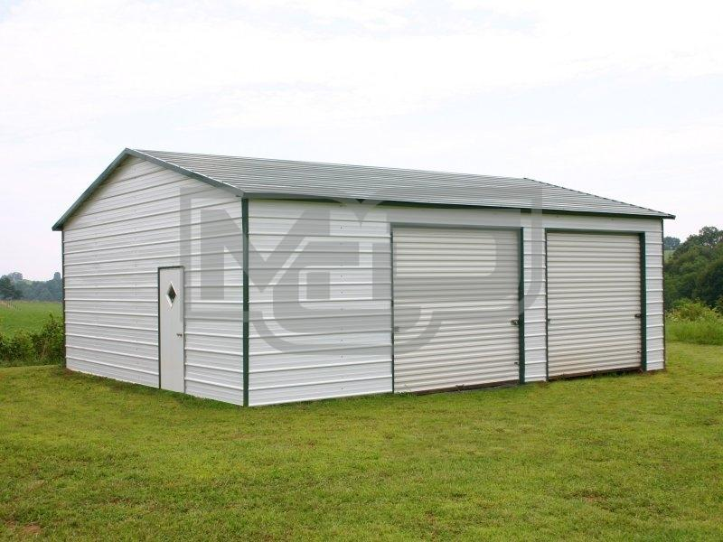 Available side entry garage workshop on Metal Carports Direct