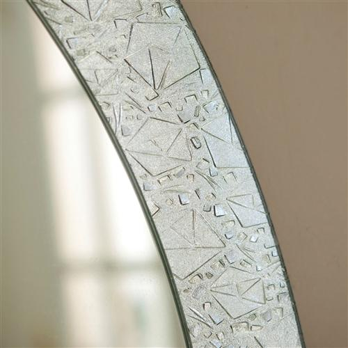 Oval Frame-less Bathroom Vanity Wall Mirror with Elegant Crystal Border