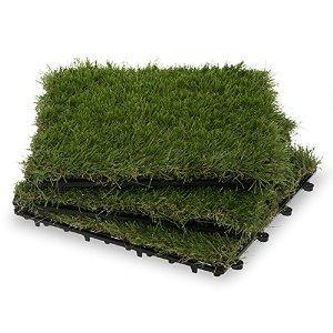 Garden Winds Grass Deck Tiles, 35mm : Patio, Lawn & Garden