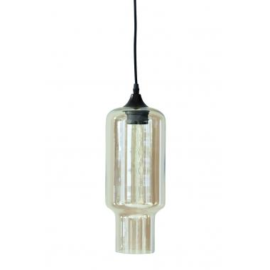 Cube Glass & Metal Hanging Lamp by House Doctor by House Doctor