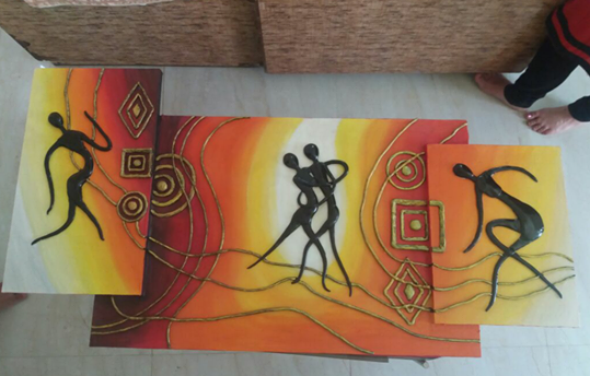 Dancing Couple Canvas Panting