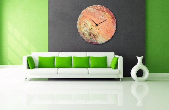Glass Wall Art Extra Large Wall Clock