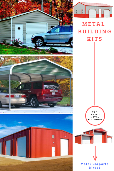 Design your Pre-fab Metal Building Kits with Metal Carports Direct