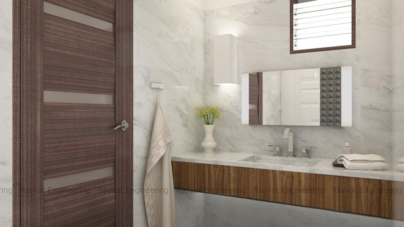 Model, Texture And Interior Rendering Of A Bathroom