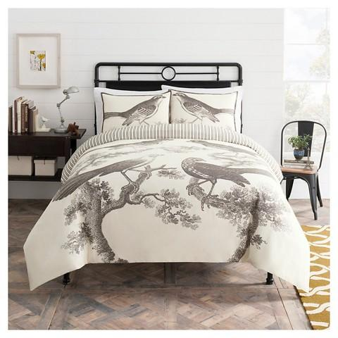 Seedling By ThomasPaul® Aviary Duvet Set With Pillow Cover for Regular Queen, King Size Beds