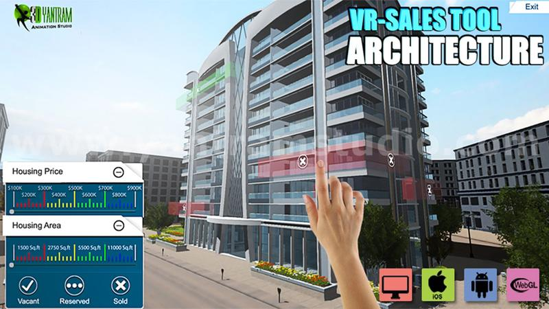 Interactive Web Base Real Estate Architecture of VR Development by 3D Walkthrough Services, Rome – Italy