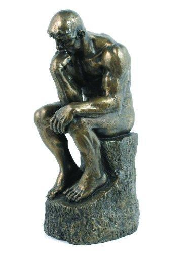Rodin the Thinker Statue Fine Art Sculpture Male Nude - Roman Figurine Statue