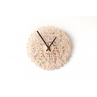 Infinity Birch Quartz Wall Clock | Contemporary Home