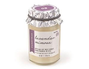Lavender Mimosa - Paddywax Farm To Table Soy Candle - 8oz | Brava Home Decor