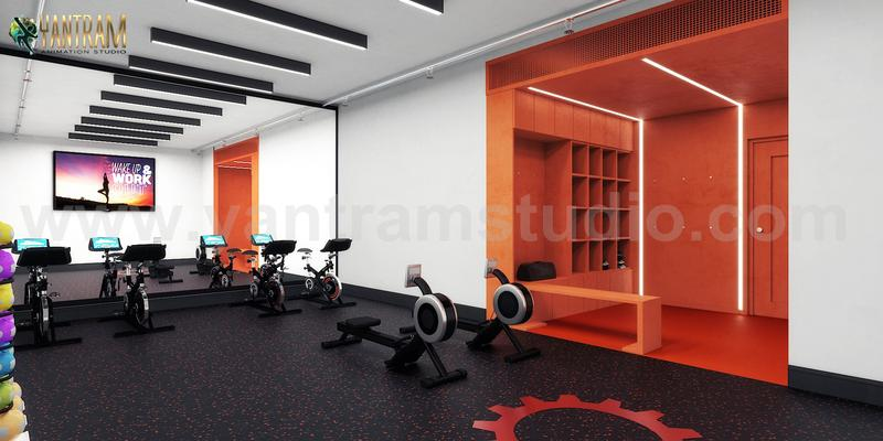 Commercial Fitness GYM 3D Interior Designers Ideas by Architectural Rendering Companies, Bern – UK