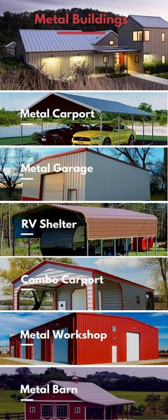 Metal Buildings Kits - American Made Prefab Metal Structures