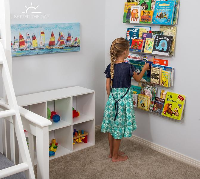 Invisible Floating Bookshelves For Kids Room