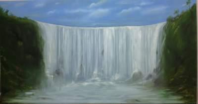 Waterfall painting on canvas