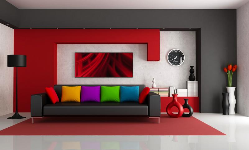 Red Wall   Decor, Paint, Interiors With Dash Of White