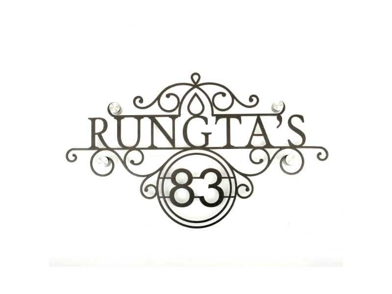 Rungta's - Metal Name Plate Designs for Home and Offices Online in India