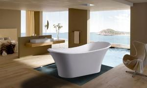 GOLDEN VANTAGE Bathroom White Color FreeStand Acrylic Bathtub GV-F472