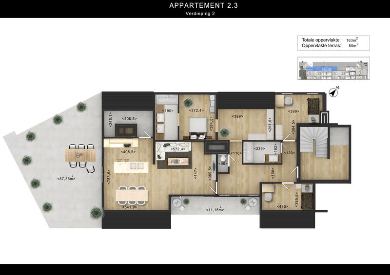 2D Floor Plan Rendering Services