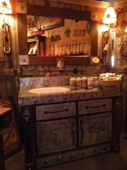 Tin Top Vanity | Western Furniture | Rustic Bathroom Vanity