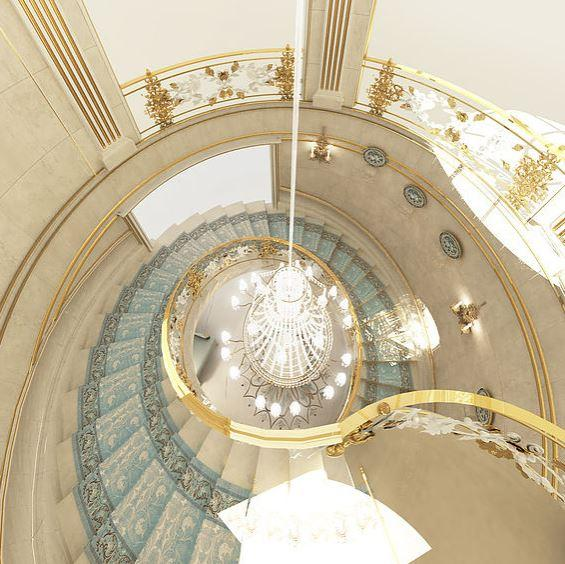 Spiral Curved Staircase Design Ideas