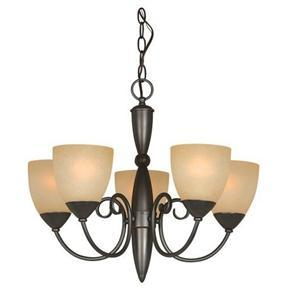 Classic Style 5-Light Bronze Chandelier 21-inch x 18-inch