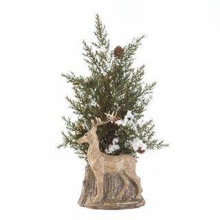 Deer Pine Sprig Topiary