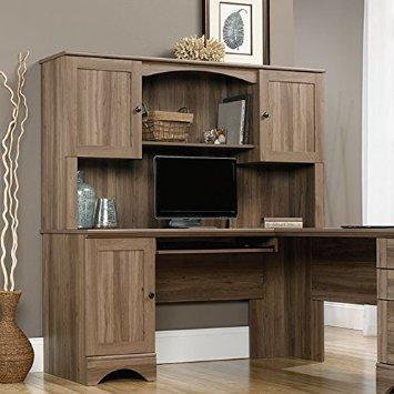 Sauder Harbor View Hutch in Salt Oak