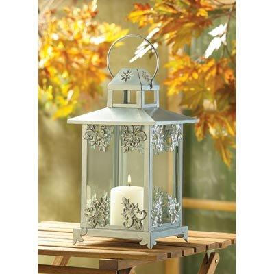 Silver Scroll Work Candle Lantern