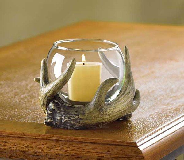 Rustic Antler Candle holder,