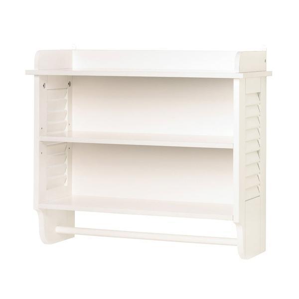 Bathroom White Wall Shelf For Storage