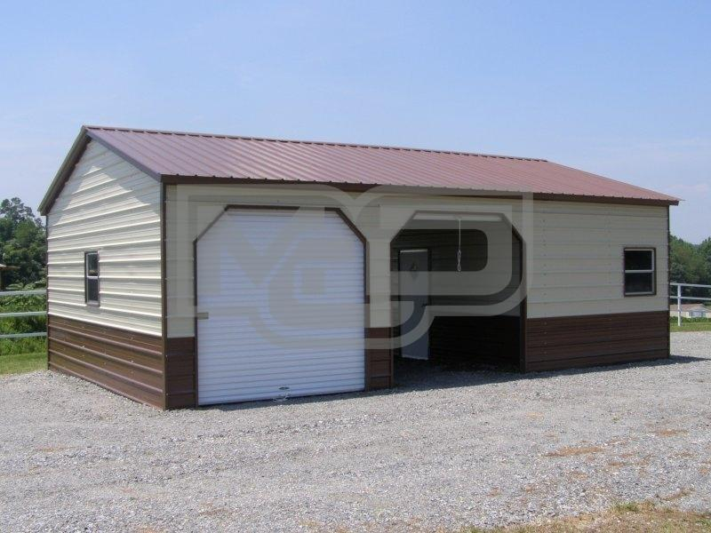 Vertical Roof Steel Garage Workshop 24'Wx41'Lx9'H