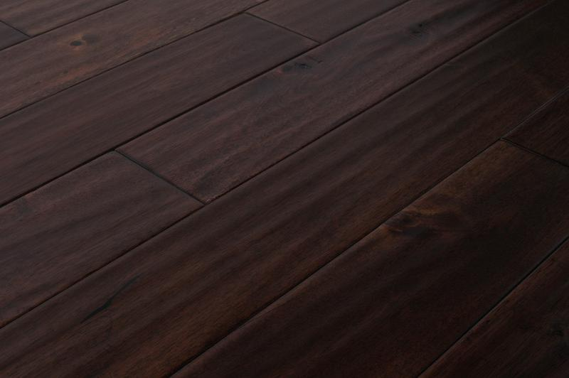 Mazama Hardwood - Handscraped Acacia Collection Oolong Brown / Acacia / Builders / 4 4/5""