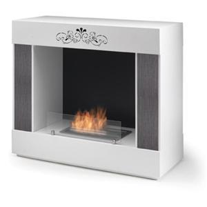 BIO FIREPLACE FREEDOM WALL by PAOLO GRASSELLI -   WHITE - HORUS - Dabirstore Italian Design Shopping
