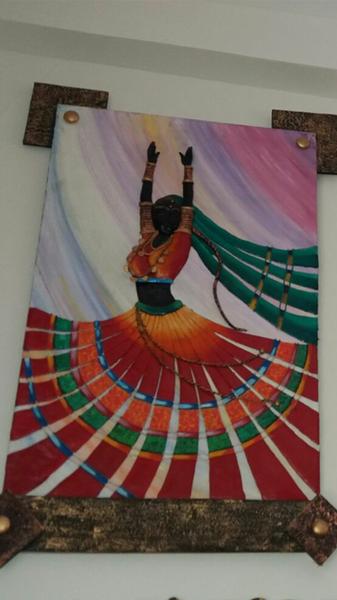 Dancing Wooden Wall Art Mural Painting