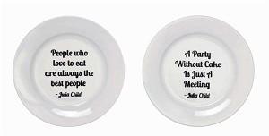 Julia Child Stoneware Plates with Quotes | Brava Home Decor