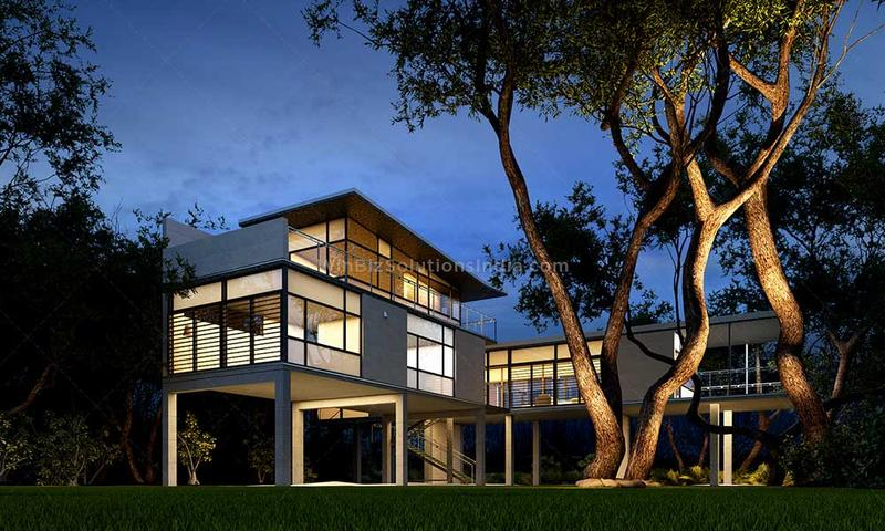 Exterior 3D Rendering Services
