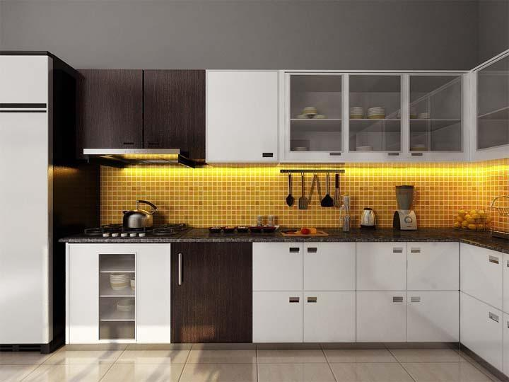 Modular kitchen arrange your pans and pots for Cuisine 3d max