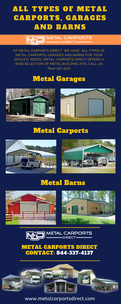 All Types of Metal Carports, Garages and Barns | Metal Carports Direct