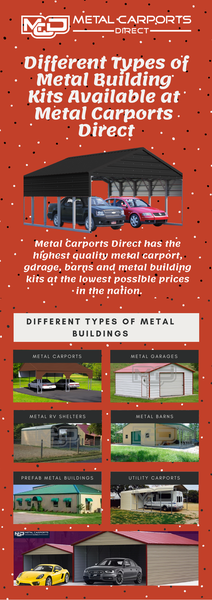 Different Types of Metal Building Kits Available at Metal Carports Direct