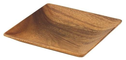 Acacia Wood Square Plate - Tabletop