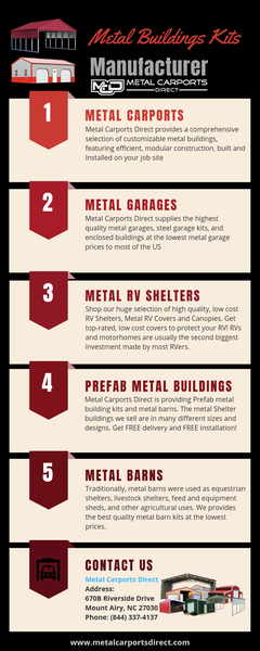 Top 5 Metal Building Kits - Metal Carports Direct