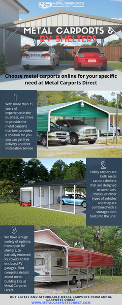 Metal Carports and RV Covers | Metal Carports Direct