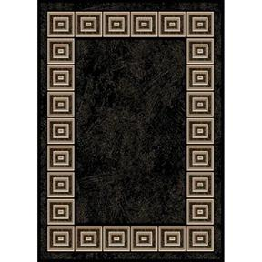 8' x 10' Optimum Black Area Rugs with White Squares Design