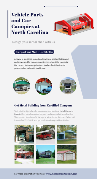Design Your Vehicle Ports and Car Canopies at Metal Carports Direct