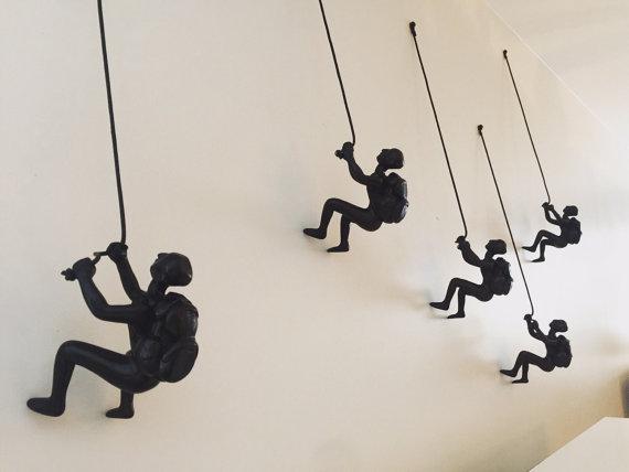 5 Piece Climbing Sculpture Wall Art Gift For Home Decor Interior Design