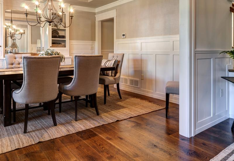 Display of Hardwood Floors in PA Street of Dreams