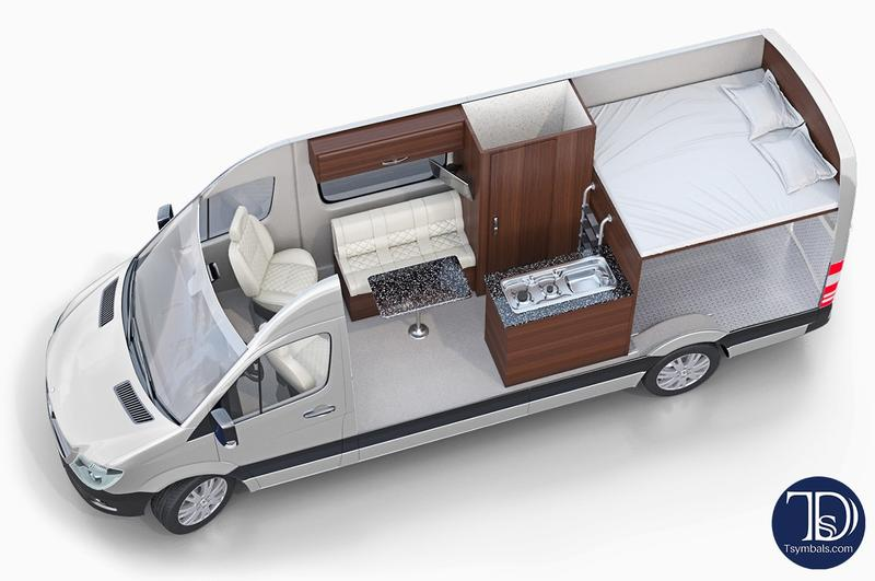 RVs, Caravans, Motorhomes Layouts 3D Design