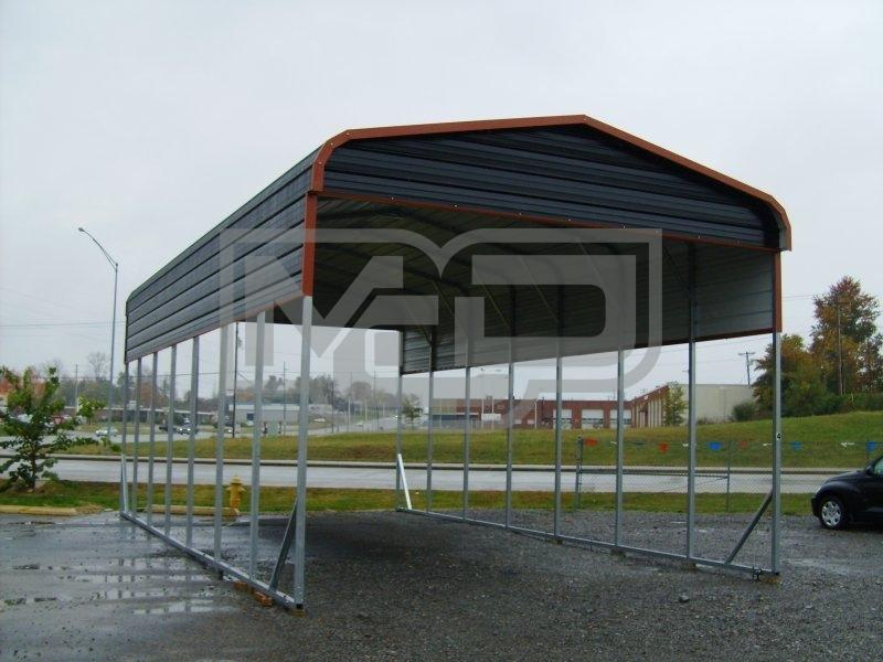 Carport | Regular Roof | 20W x 36L x 12H | RV Motorhome Carport Shelter