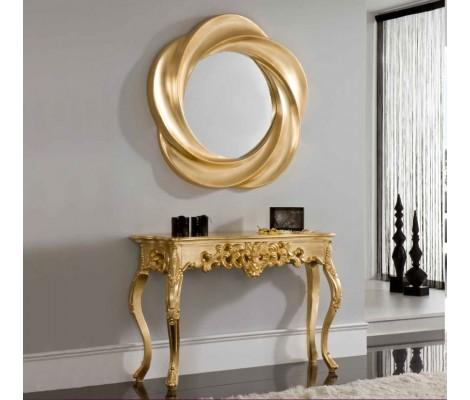 CK58 Console with EPU177 Mirror  In Gold Finish By Dupen Made in Spain