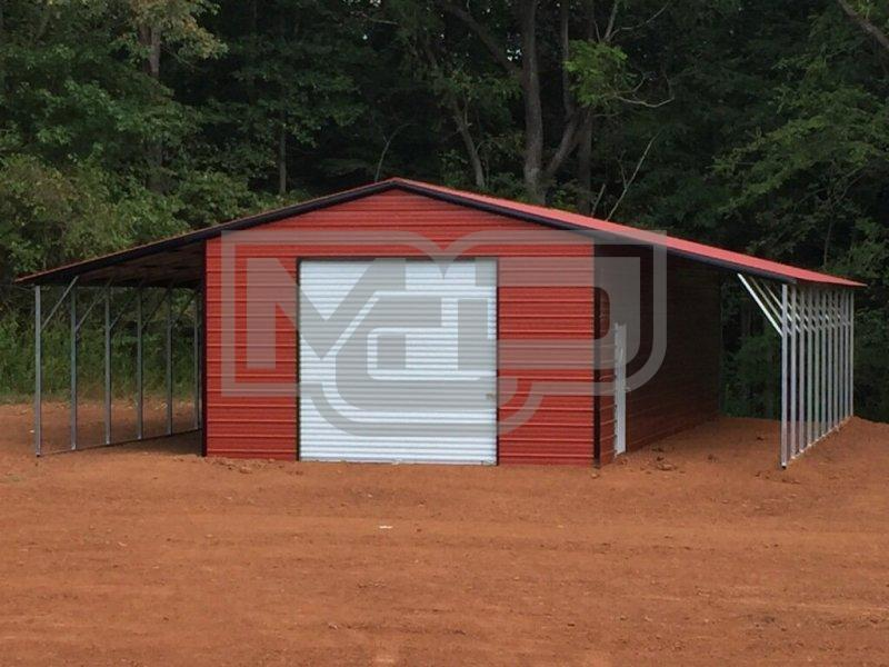 Get Affordable Metal Garage with Lean-Tos