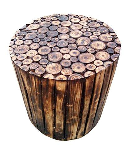 Wooden Log Stool Round